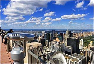 Top of the Rock Observation Deck at Rockefeller Center